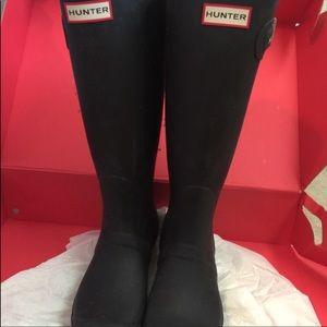 Black Hunter Boots. Like new!